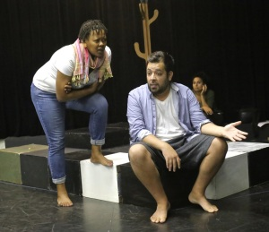 State of Denial rehearsal - W. Setshwaelo, J. Blais, M. Di Cesare