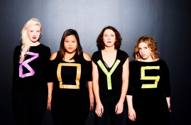 the Flirty Boys - Allison Hogg, Alessandra Vite, Ann Pornel and Alexandra Wylie